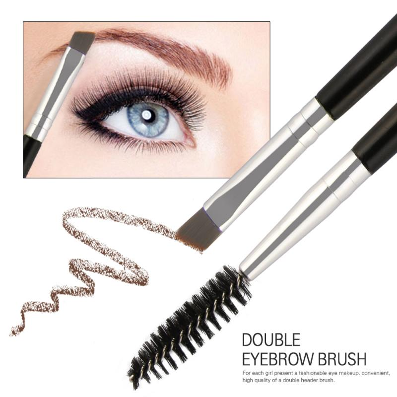 1PC Eyebrow Brush Double Head 2 In1 Bevel Eyebrow Brush For Beginner Professional Eye Brow Makeup Brush Eye Face Cosmetics Tools