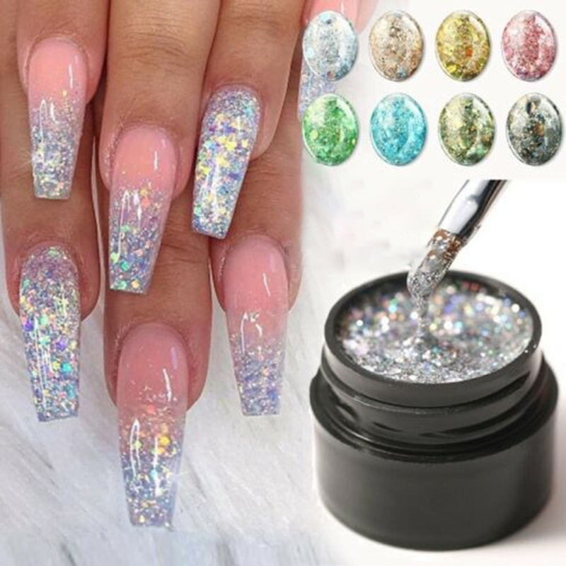 5ml Nail Art Glitter Powder Dust for UV Gel Polish Acrylic Nail Sequins Decoration Tips DIY Nail Art Lacquer