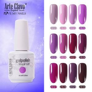 Arte Clavo Purple Color Nail Gel Polish Led UV Soak Off Prime Gellack Nails Art Manicure New Arrivals 131 Color Lacquer Varnish