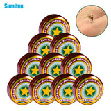 SMF 1/2/4/6Pcs Vietnam Gold Tower Ointment For Cold Headache Stomachache Dizziness Heat Stroke Insect Stings Herbal Oil Refresh