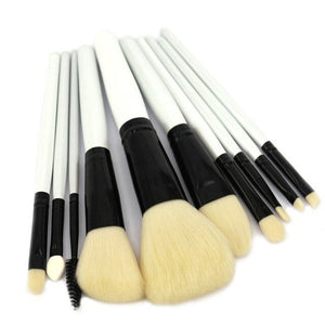 10pcs Professional Makeup Brushes Set Powder Foundation Blusher Eye Shadow Liner Brow Lash Makeup Tools Kit for Beginners