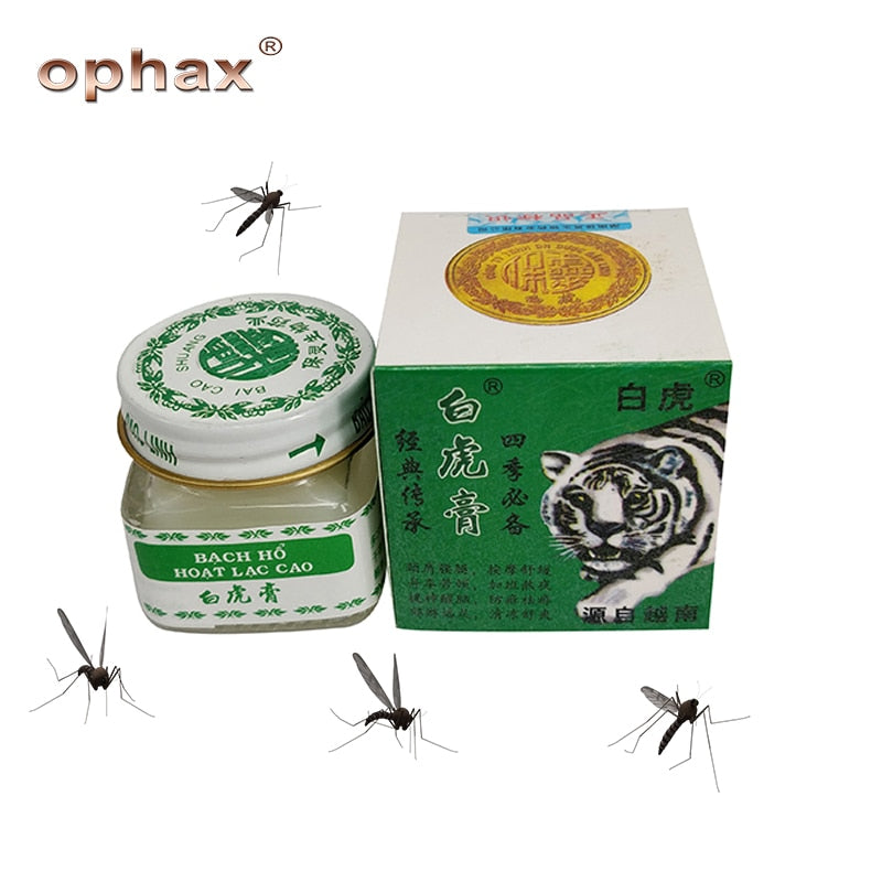 OPHAX 2Pcs/lot Vietnam White Tiger Balm ointment for anti mosquito Headache Toothache Stomachache Dizziness Essential Balm Oil