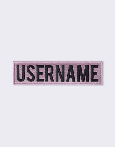 Patch Logo Lavande & Noir - USERNAME