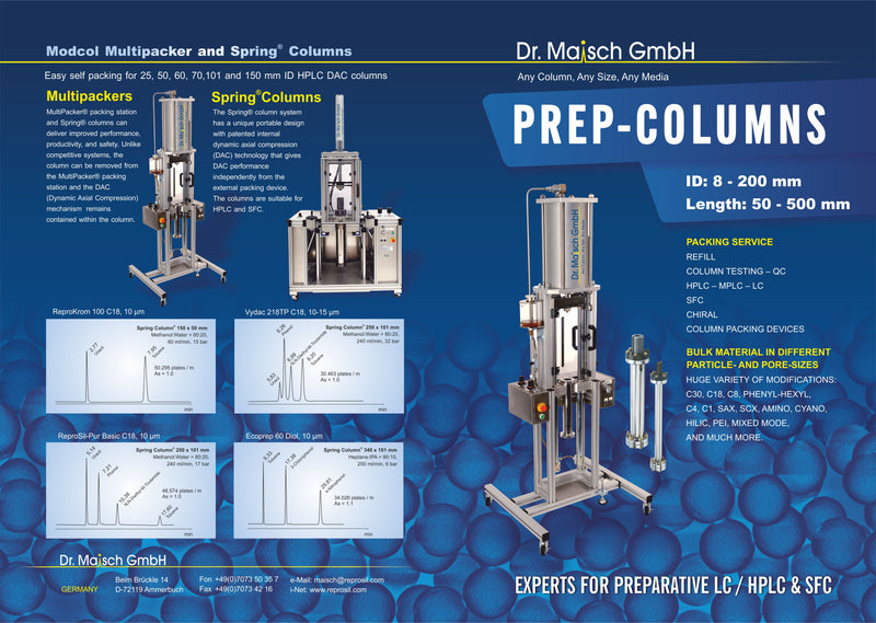 Reprosil HPLC Columns; Any Column, Any Size, Any Media