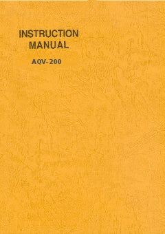 Instruction manual EV-6L - E323402-1