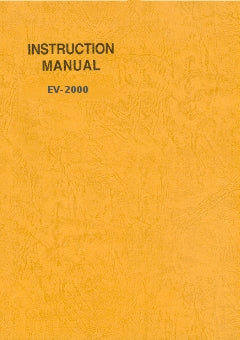 Instruction manual EV-2000 - E315109-1