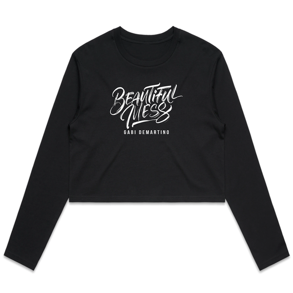 BEAUTIFUL LS CROP TEE / BLACK