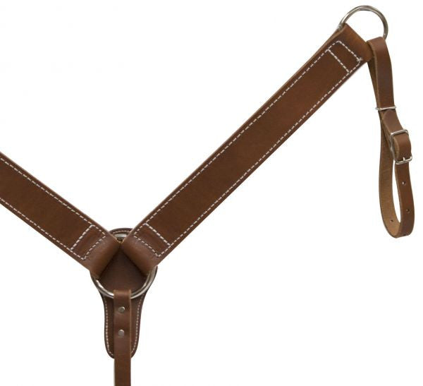 Harness Leather Straight Cut Breast Collar