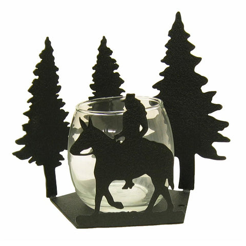 Female Mule Rider Candle Wrap