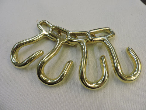 Decker Hooks - Brass Set of 4