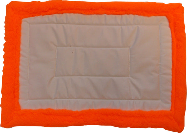 Canvas and Orange Fleece Pack Saddle Pad