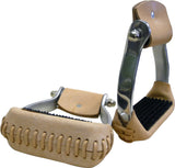 "Aluminum 3"" Barrel Stirrup with Rubber Pad"