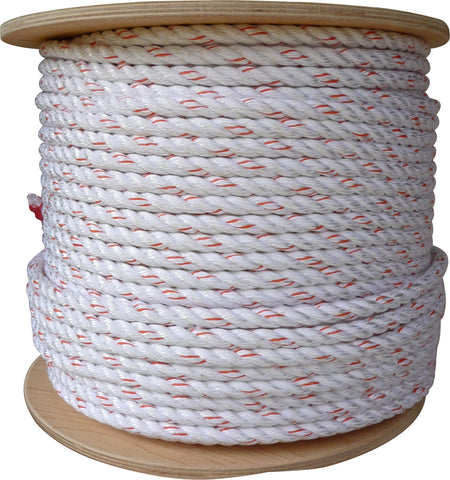 "1/2"" 3 Strand New England Multiline II Rope- By The Foot"