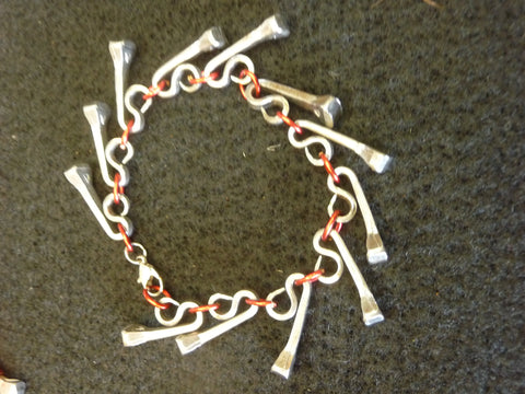 Horse Shoe Nail Bracelet w/ Wire  Accents Assorted Colors