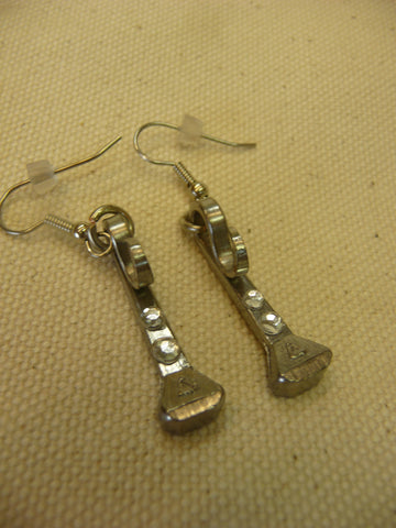 Horse Shoe Nail Earrings w/ Rhinestones Assorted Colors
