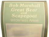 Bob Marshall, Great Bear,& Scapegoat Wilderness Areas Map