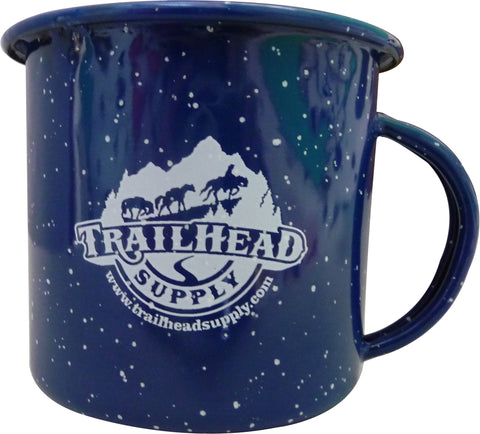 Trailhead Supply Blue Enamel Camp Coffee Cup 12 FL. OZ