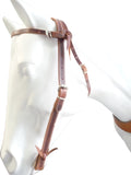 Buckled Leather Browband Mule Headstall