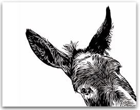 """Sam"" Donkey Greeting Card"
