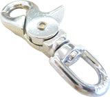 Nickel Plated Scissor Snap- Round