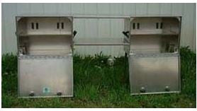 Aluminum Camp Cupboard Bear Boxes by Jerry Kawasaki