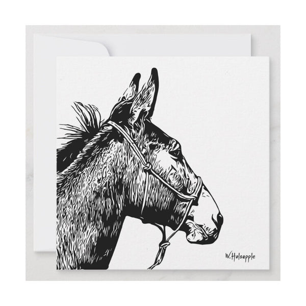 """Coulter"" Mule Notecard"