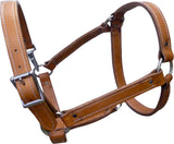 Side Pull Leather Mule Halter