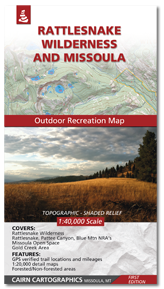 Rattlesnake Wilderness and Missoula Map