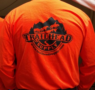 Orange Long Sleeve Trailhead Supply T-Shirt