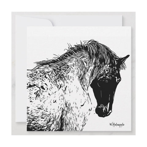 """Spirit"" Horse Notecard"