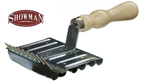 Square Curry Comb Brush by Showman