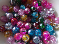 100 pc Mixed Drawbench Glass Beads 8mm