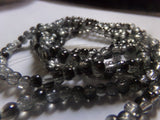 1 Strand Black/White Crackle Glass Beads 4mm