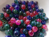 100 pc Mixed Paint Splatter Glass Beads 6mm