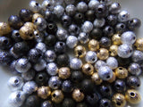 100 pc Mixed Stardust Bead Spacers 6mm