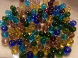 100 pc Mixed Translucent Glass Beads 4mm