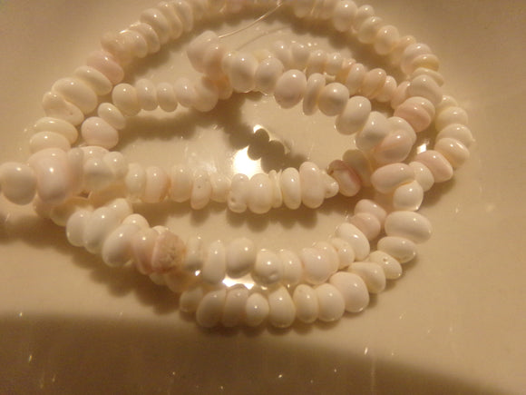 1 Strand Pink Shell Small Nugget Beads
