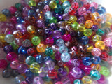 500 pc Mixed Color Scribbled Glass Beads 4mm