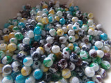 500 pc Mixed Color Splotted Glass Beads 4mm