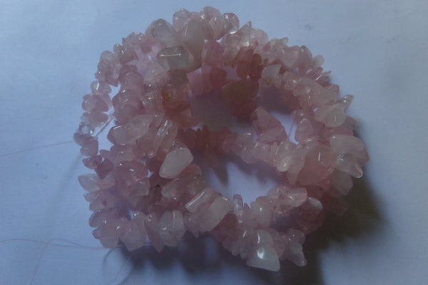 1 Strand Rose Quartz Bead Chips