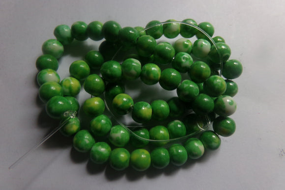 1 Strand Dyed Green Howlite Beads 6mm