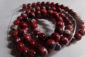 1 Strand Dyed Dark Red Howlite Beads 6mm
