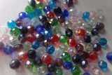 100 pc Mixed AB Color Abacus Glass Beads