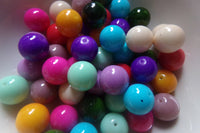 Mixed Color Glass Beads 10mm