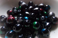 Mixed Color Striped Glass Beads 10mm