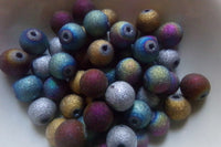 Mixed Stardust Glass Beads 10mm