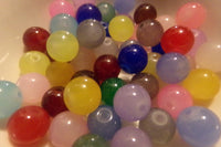 Mixed Color Glass Beads Size 10mm