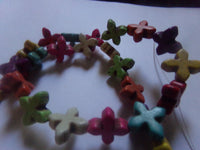 1 Strand Howlite Cross Dyed Beads