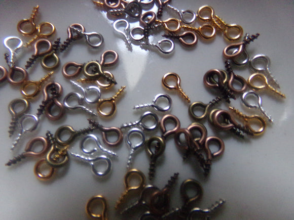Mixed Finish Bail Peg Eye Screw Findings