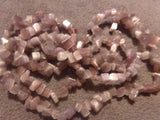 1 Strand Purple Lavender Cats Eye Glass Bead Chips